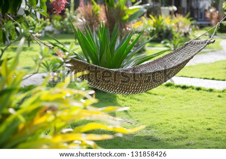 Hammock on a tropical resort