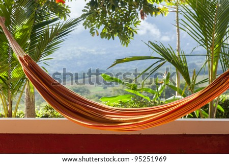 Hammock with a countryside view