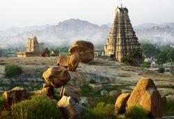 Hampi and its strange landscape, Karnataka, India