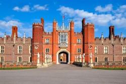 Hampton Court Palace in Richmond, London, UK