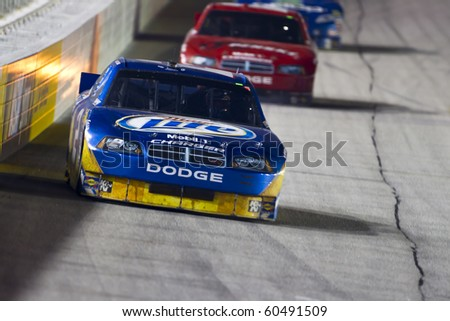 HAMPTON, GA - SEP 05:  Kurt Busch brings his Miller Lite Dodge through turn 1 during the Emory Healthcare 500 race at the Atlanta Motor Speedway in Hampton, GA on Sep 05, 2010.