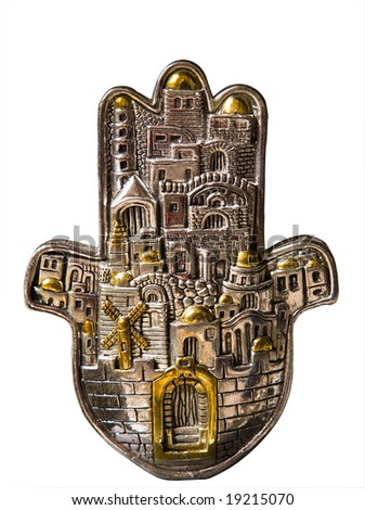 Hamsa hand amulet, used to ward off the evil eye in mediterranean countries.