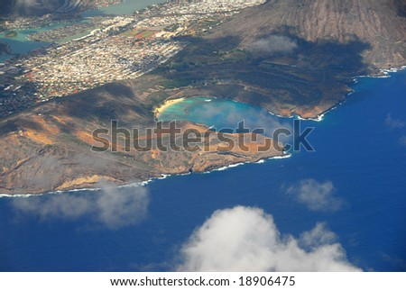 Hanauma Bay From The Air