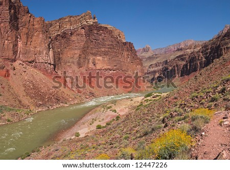 Hance Rapids in Grand Canyon. - stock photo