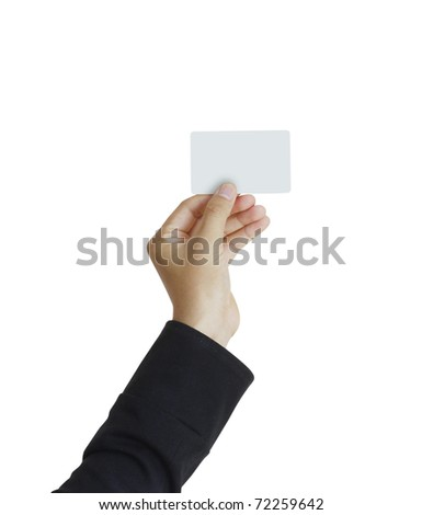 Hand and a card - stock photo