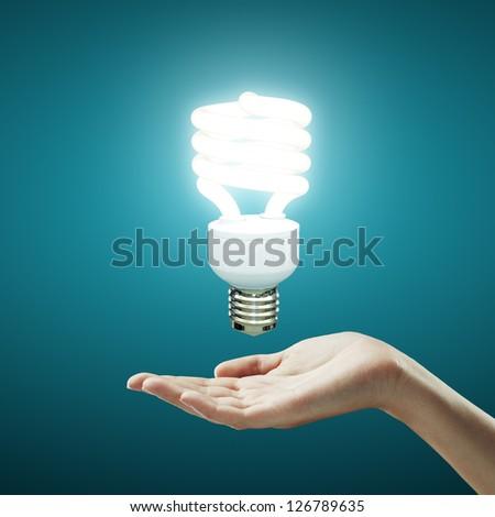 hand and energy saving lamp