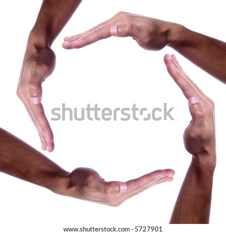 hand as if holding something - open space - stock photo