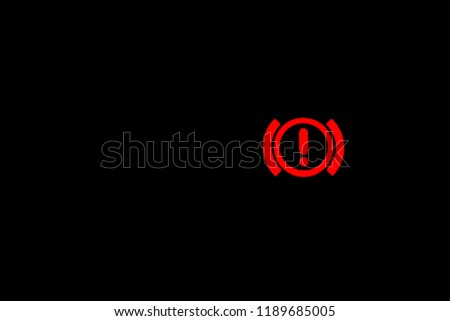 Hand Break Warning Light Sign, Car light indicator, Red indoor indicator
