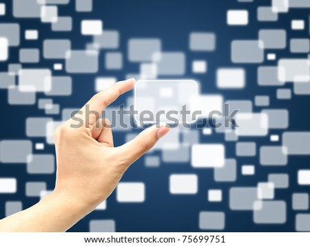 Hand catch big touch screen