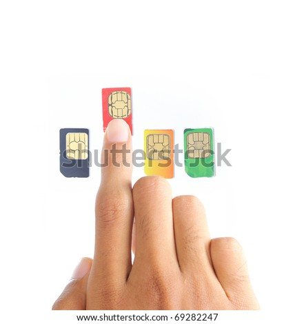 hand choosing the best sim card or cellular provider