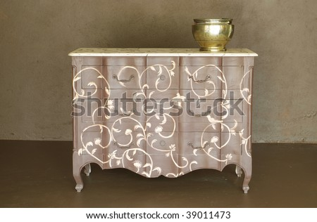 Hand crafted classic wooden dresser #39011473