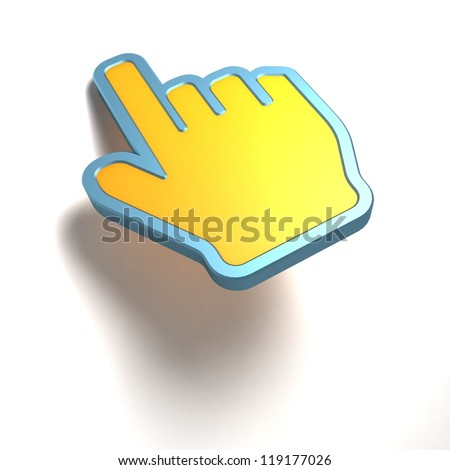 Hand Cursor - stock photo