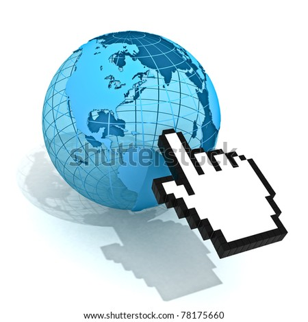 Hand Cursor And World