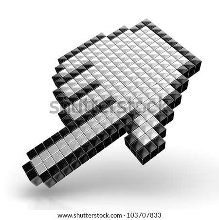 Hand cursors isolated over white