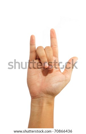 Hand Doing I Love You Sign Language Gesture