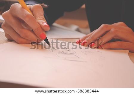 hand draw pencil