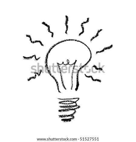 Hand drawed Light Bulb Symbol.