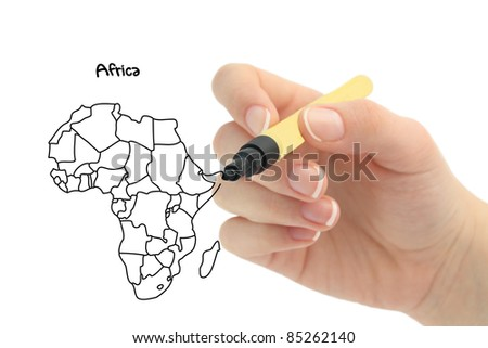 hand drawing africa
