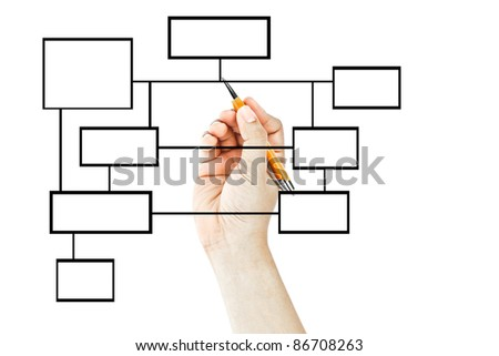 Hand drawing blank business diagram