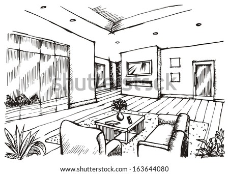 Interior Design Sketches Living Room plain interior design living room drawings stunning modern drawing