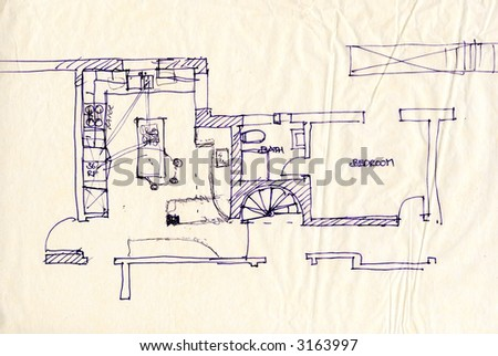 hand drawing of floor plan for apartment stock photo slaughterhouse floor plan sketch trend home design and decor
