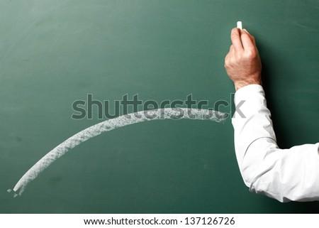 Hand drawing on chalkboard