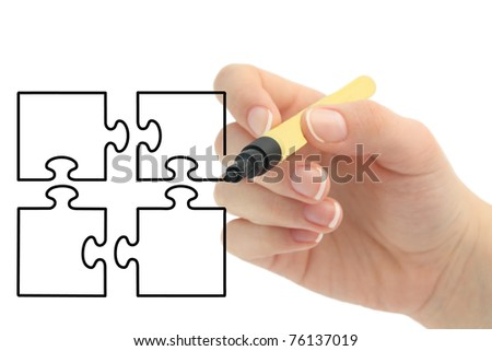 hand drawing puzzle