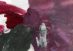 Hand drawn abstract pastel oil strokes on canvas. Abstract red, magenta and grey oil painting on canvas. Soft tones oil paint splash. Contemporary bright artwork. Modern art background