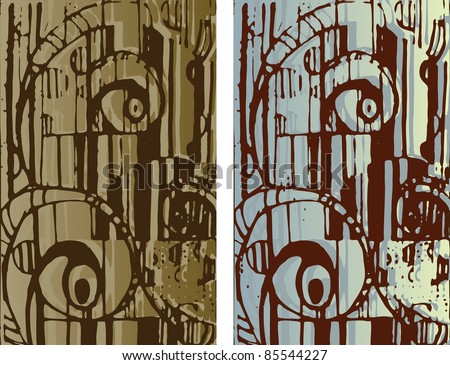 Hand-drawn background texture. Abstract cityscape. raster version.