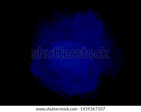 Hand drawn colored spot on isolated dark background. Abstract blotch. Image for your design