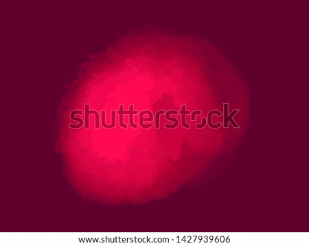 Hand drawn colored spot on isolated dark background. Abstract colorful blotch. Image for your design