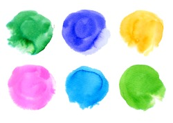 hand drawn colorful circles set