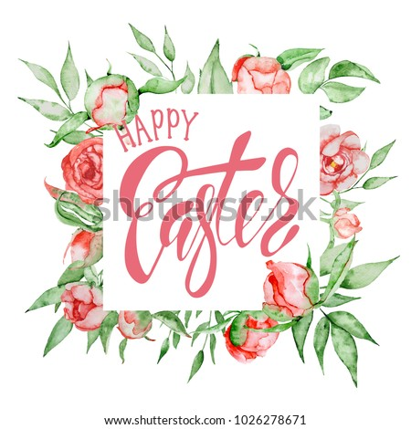 hand drawn easter quote greeting card templates with lettering