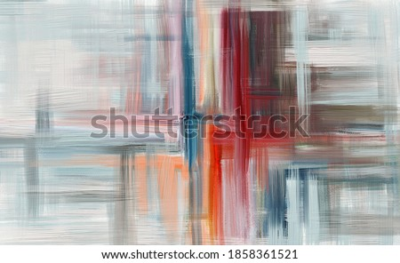 Hand drawn fine art painting. Oil on canvas for wall, long brush strokes, textured wallpaper. Bright coloring, surreal creativity. Expressive modern artwork