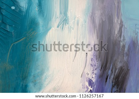Hand drawn gouache painting. Abstract art background. Color texture. #1126257167