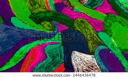 Hand Drawn Graphic Pattern. Grunge Design. Free Hand Banner. Hand Made Print. Oil Image. Acrylic Style. Multicolor Texture. Hand Drawn Graphic Poster.