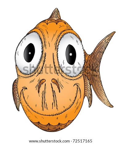 goldfish cartoon pictures. of a cartoon goldfish