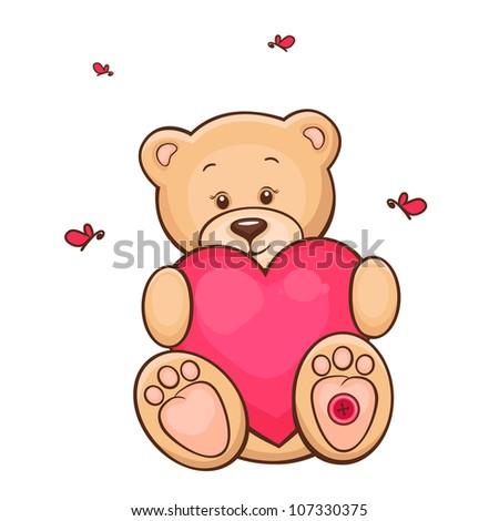 Easy Cute Bear Drawing Hand drawn illustration of