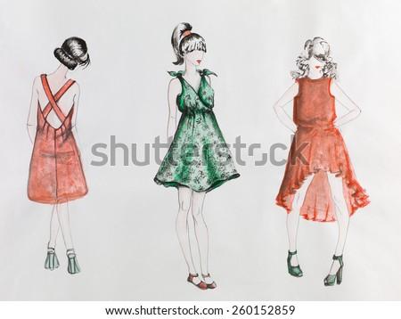 Fashion tailor illustration