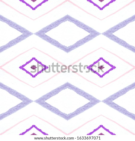 Hand Drawn Mexican Pattern. Seamless Watercolour Zigzags. Pink Tribal Background. Mexican Pattern. Fashion Ikat Tile. Rhombus Texture. Rhombus Chevron. Ikat Print. Mexican Pattern.