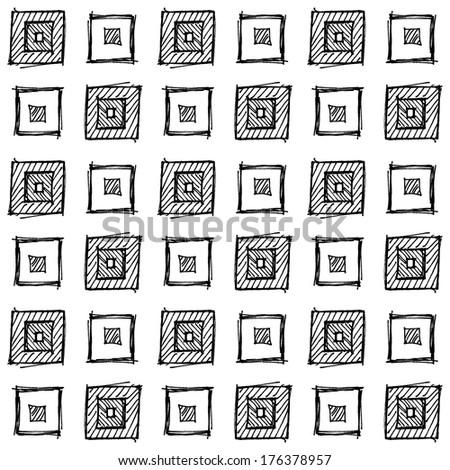 Hand drawn pattern background as design element.