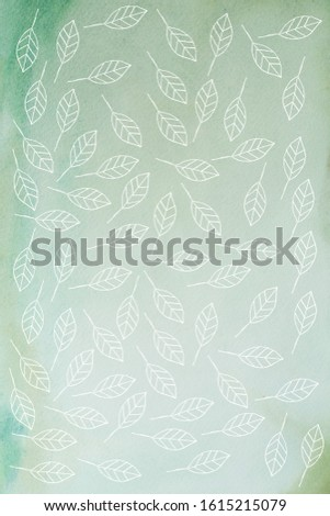 hand drawn petals - greeting card -  greeting background