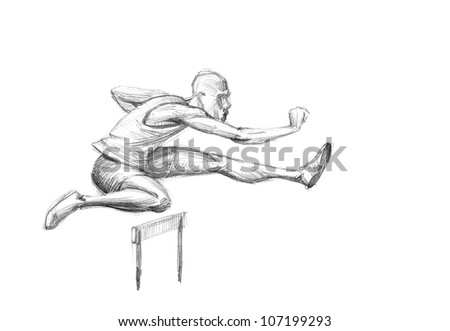 how to draw a hurdle