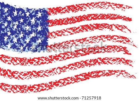 hand drawn usa flag