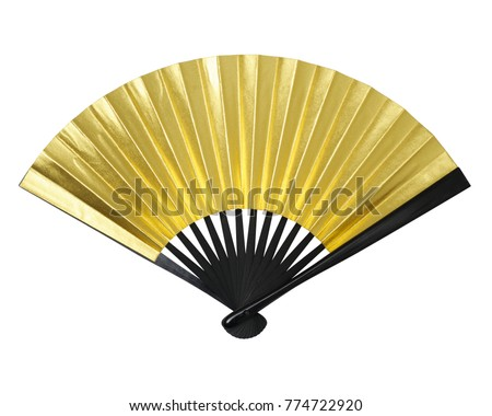 Hand fan isolated on white background #774722920