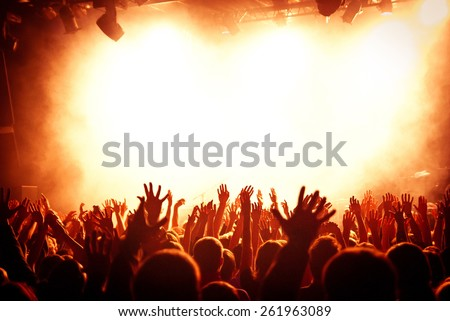 hand fans during a concert Stock photo ©
