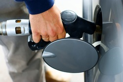 Hand fill up of gasoline
