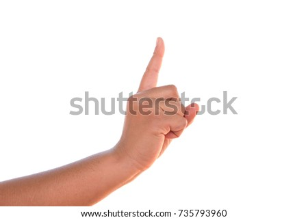 Hand finger  isolated  #735793960