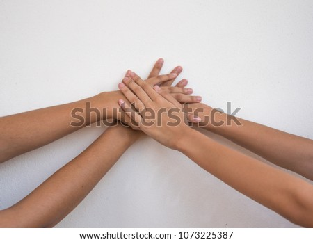 hand for unity on white background #1073225387