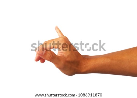 hand gesture is devil symbol isolated on white background #1086911870